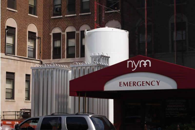 Central Oxygen Storage Facility at New York Methodist Hospital