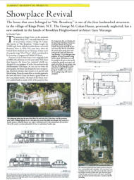 In The Press - George Cohan's Estate, Showplace Revival