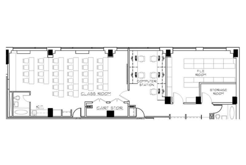 Medical Staff Education, New York Methodist Hospital, Park Slope, Brooklyn, Floor Plan
