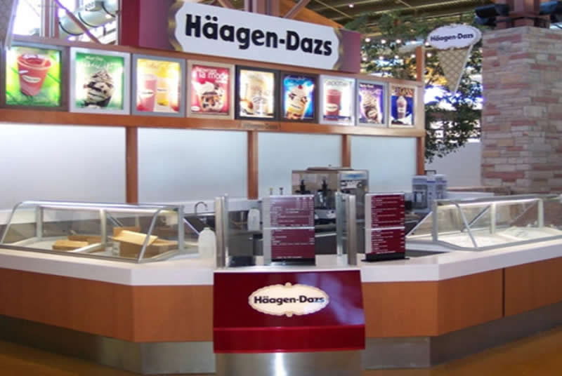 Commercial Design Projects - Haagen-Dazs, New York City